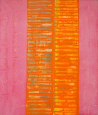Franco Meneguzzo, Autoritratto a moduli su fondo rosa, 1962, olio su tela, 60x70jpg