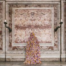 La terra dei fiori (Scalone Monumentale)_2017_Stampa fine art su carta Hahnemuhle applicata su dibond 85x85 cm_Ph. A.Zangirolami