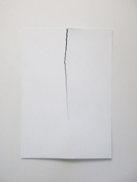 Carlo Colli, Skin N111, 2016, pittura bianca strappata, 100x70