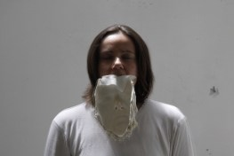 Jessica Japino, SELF PORTRAIT W: MASK, video installazione 2017, video mono canale 7:24""