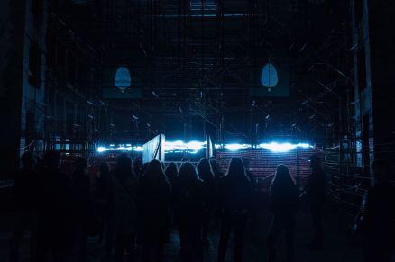 "Credit: Andreco - ""intrepida"" workshop, collective performance and installation - Production: GAER - MDA - Geco - Regione Emilia Romagna Foto: Nicolò Mattoni, 1"