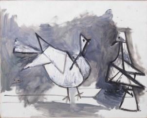 Pablo Picasso, Deux pigeons 1960, olio su tela, 65x81