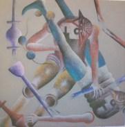 Piero Paladini, medioevo cont. n¯ 4 cm 90x90 acr su yuta
