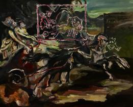 Adriano Annino, Termcolino Gericault, Carro antico da Carle Vernet, 2017, oil on canvas, cm 79x64