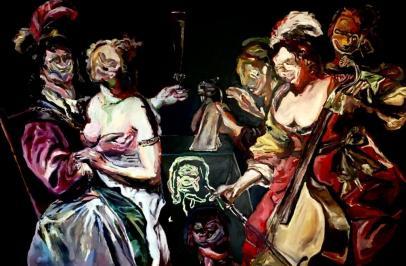 Adriano Annino, Termoclino Baeck, Il figliol prodigo, 2017, oil on canvas, cm 122,5x184