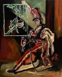 Adriano Annino, Termoclino Gericault, Trombettiere degli ussari seduto, 2017, olio su tela, cm 38x46