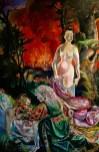 Adriano Annino, Termolino Otto Dix, Lot e le sue figlie, 2018, olio su tela, cm 130x195