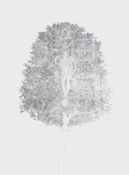 Fernando De Filippi, Arbor Solis, china su cartoncino 140x100, 2005