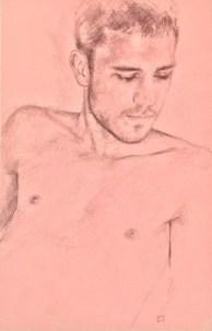 Alberto Torres Hernandez, Boys don't cry, mixed media su carta, 28 x 21 cm, 2018
