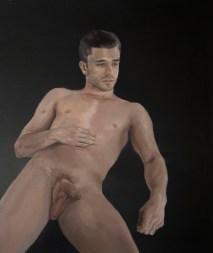 Alberto Torres Hernandez, Wolf Cropped, olio su tela, 90 x 75 cm, 2016