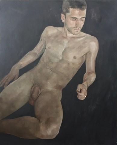 Alberto Torres Hernandez, Wolf, olio su tela, 135 x 110 cm, 2016