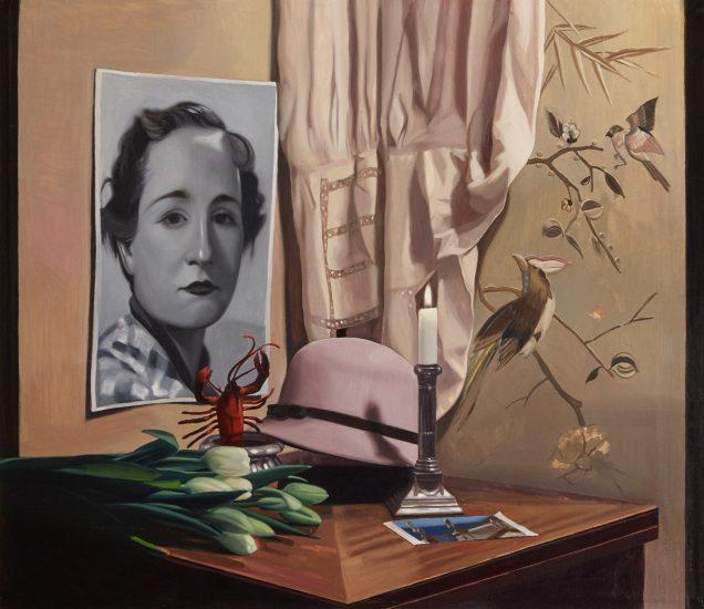 Orquín/Dalí - Mitad ángel, mitad marisco, 60 x 70 cm, Olio su tela, 2018