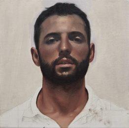Orquín/Salvador Maella - retrato de D. Mariano Maella, 30 x 30 cm, olio su tela, 2017