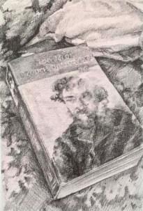 ALBERTO tORRES hERNANDEZ, The Idiot, mixed media su carta, 20 x 14 cm, 2018
