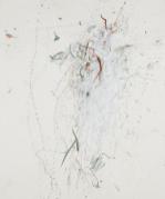 Rebecca Horn, Portrait of Gesualdo, 2008 (acrylic , pencil on paper, 181x150 cm, 207x175 cm : framed)