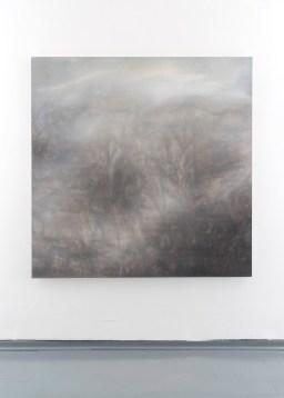Marco Affaitati, Doppio fiore, 2018, olio su tela, 150x150cm - photo courtesy Giorgio Benni