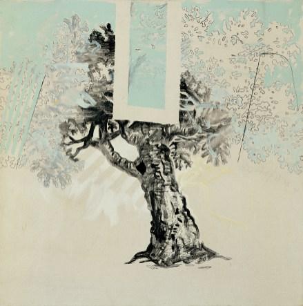 Mario Schifano, Vero amore, 1965, smalto e grafite su tela / enamel and graphite on canvas 80 x 80 cm , collezione privata, Courtesy Fondazione Marconi, Milano © Mario Schifano by SIAE 2018