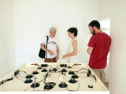 D.DiGirolamo e M.Pacenti istallano la sound installation a GuilmiArtProject2019