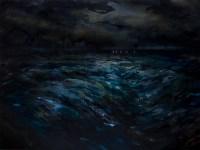 Enrico Minguzzi, La successione, 2014, acrilico ed olio su tela, cm 120x160
