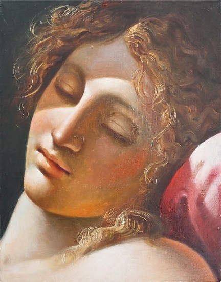 Carlo Maria Mariani, Silence, 2006, olio su tela, cm 25x20