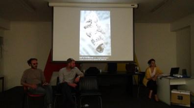 Ehab H.A. Kher, Nikolaj Larsen, Rosa Ciacci nell'Aula Magna dell'Accademia di Belle Arti di Catanzaro