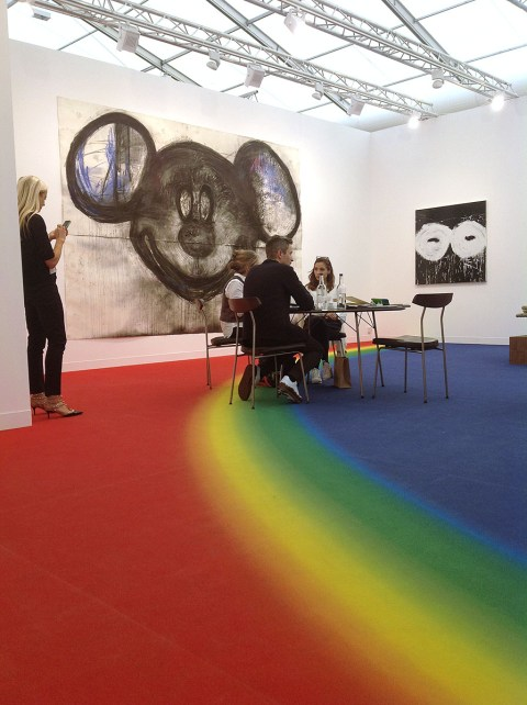 Joyce Pensato, Mickey for Micky 2014 - Lisson Gallery London
