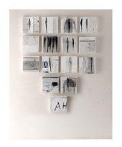 Mauro Pipani, Gli Alberi sono anime (2015), 20x 20 cadauna, pellicole, lastre offset, inchiostri, graffite. Courtesy the artist
