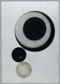 Andrea Lelario, Abraxas, 2014 - Maniera nera, puntasecca su rame, 3 matrici, ø cm. 49,5 - 18,5 - 19,5