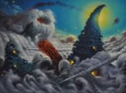 Riddles, 2015, olio su tavola, 60 x 80 cm