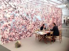 Thomas Demand : Hanami 2014 uv print on non-wood wallpaper, Esther Schipper Berlin