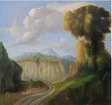 Ubaldo Bartolini, Portatrice d'acqua, 1997, olio su tela, cm 170x180