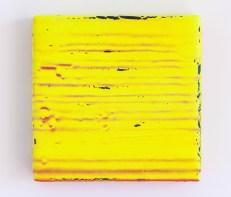 Yellow_2016_acrilico su nastro carta su legno tondo 24x24 cm