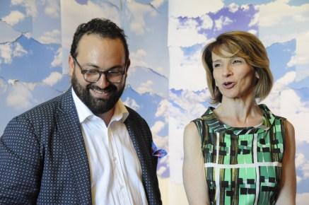 Il curatore Antonio D'Amico con l'assessore alla cultura della regione Marche