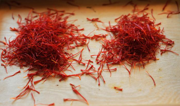 Stigmas of Crocus Sativus, the saffron c
