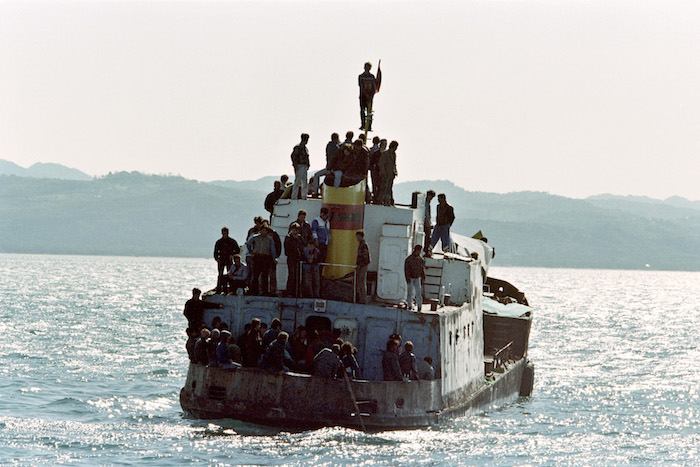 About fifty Albanians attempt to flee on