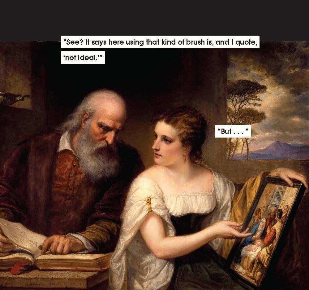 C'è un libro che mostra tutte le situazioni di mansplaining nell'arte