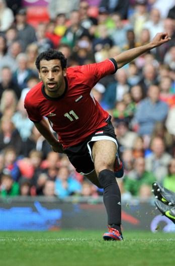 Salah esulta dopo aver segnato contro la Nuova Zelanda, alle Olimpiadi del 2012. Francis Bompard/Getty Images