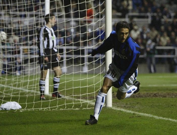 Il suo primo gol in Champions, Newcastle 2002 (Alex Livesey/Getty Images).