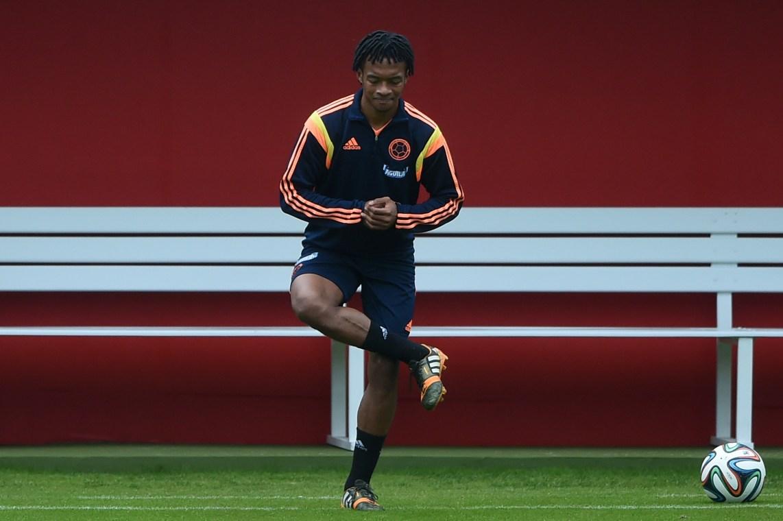 Nel 2014 con la maglia della Colombia, in un allenamento pre Mondiale (Eitan Abramovic/Afp/Getty Images)