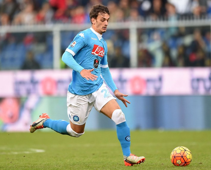 GENOA, ITALY - NOVEMBER 01: Manolo Gabbiadini of Napoli in action during the Serie A match between Genoa CFC and SSC Napoli at Stadio Luigi Ferraris on November 1, 2015 in Genoa, Italy. (Photo by Getty Images/Getty Images)