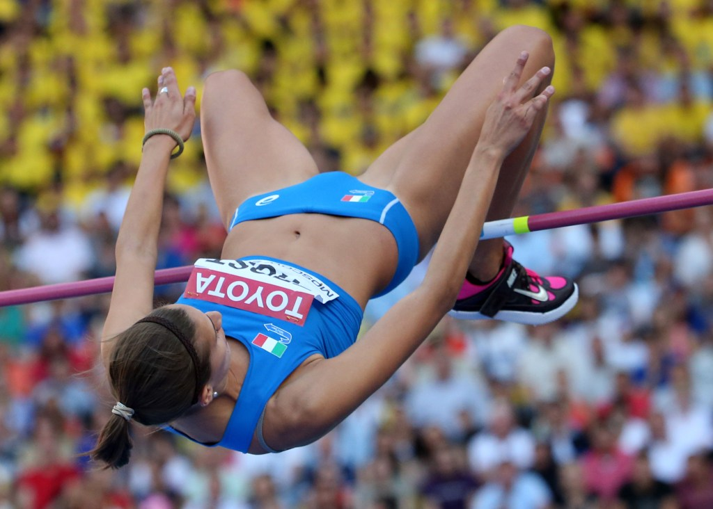 Italy's Alessia Trost competes during the women's high jump final at the 2013 IAAF World Championships at the Luzhniki stadium in Moscow on August 17, 2013. AFP PHOTO / FRANCK FIFE (Photo credit should read FRANCK FIFE/AFP/Getty Images)