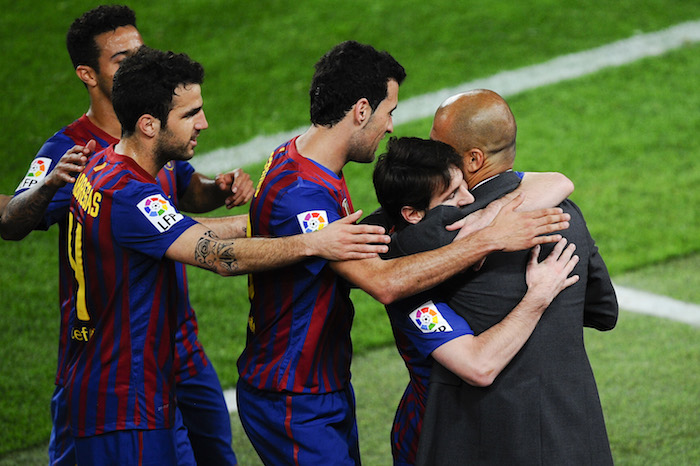 <> at Camp Nou on May 5, 2012 in Barcelona, Spain.