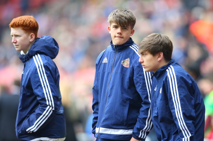 SUNDERLAND, ENGLAND - MAY 07: Ball boys are seen inside the stadium during the Barclays Premier League match between Sunderland and Chelsea at The Stadium of Light on May 7, 2016 in Sunderland, England. (Photo by Ian MacNicol/Getty images)