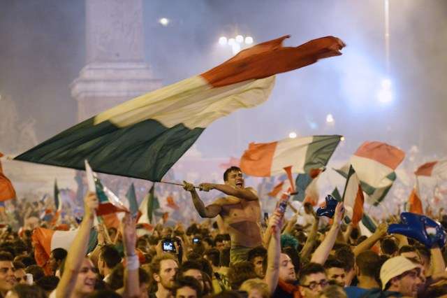 Supporters of the Italian national footb