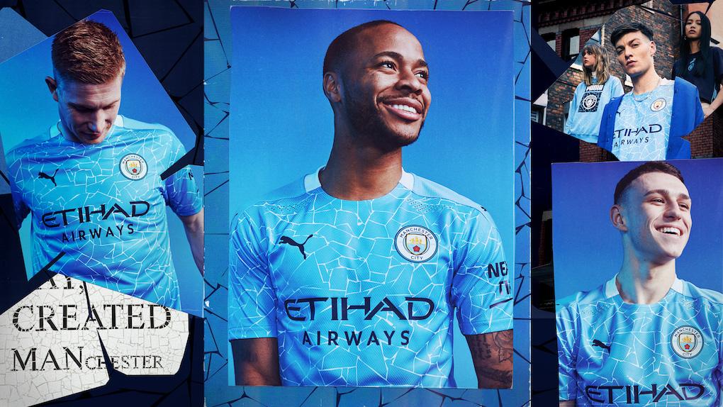 La nuova maglia del Manchester City, tra mosaici e modernità