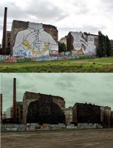 Blu a Berlino - Prima e dopo la protesta contro la speculazione