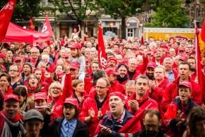 Ferrovieri in sciopero a Gand
