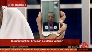 Erdogan lancia l'appello al paese su Facetime