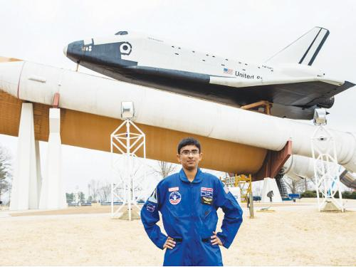Fahmeed Rajput represents Saudi Arabia and HLCA. Unique scholarship program promotes STEM education and effective leadership skills at the US Space & Rocket Center.