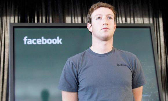 Facebook CEO Mark Zuckerberg listens to a question. (AP)